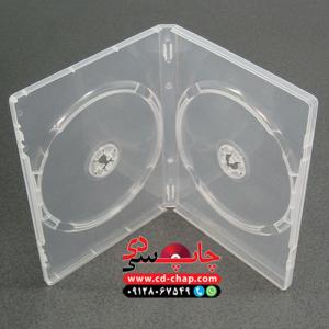 قاب دی وی دی 2 تایی شفاف